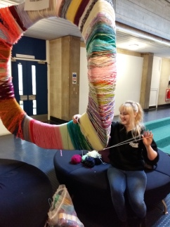 Relief in the form of a giant pom-pom!