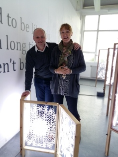 The lovely couple who went home with my baby maquette to make a wall feature out of.